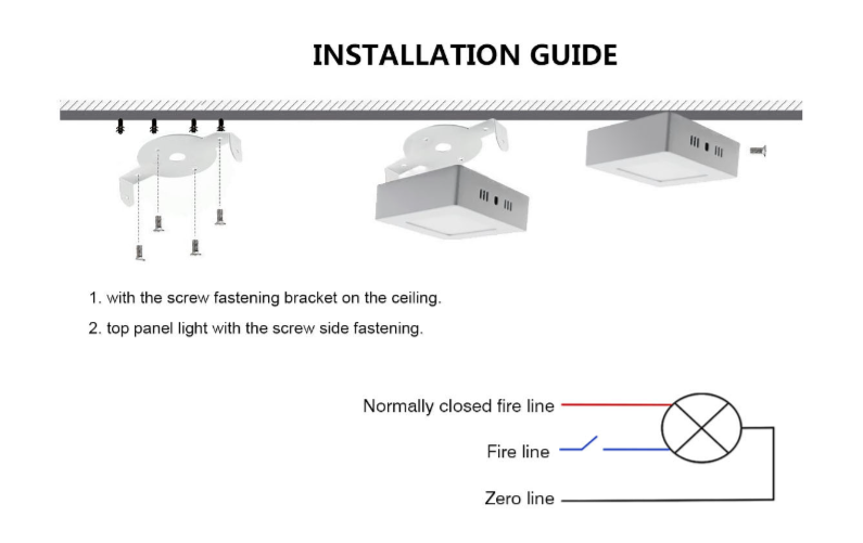 Installation Guide surface LED panel