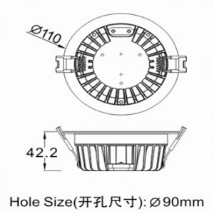 recessed led downlights cutout90