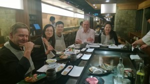 Dinner with customers