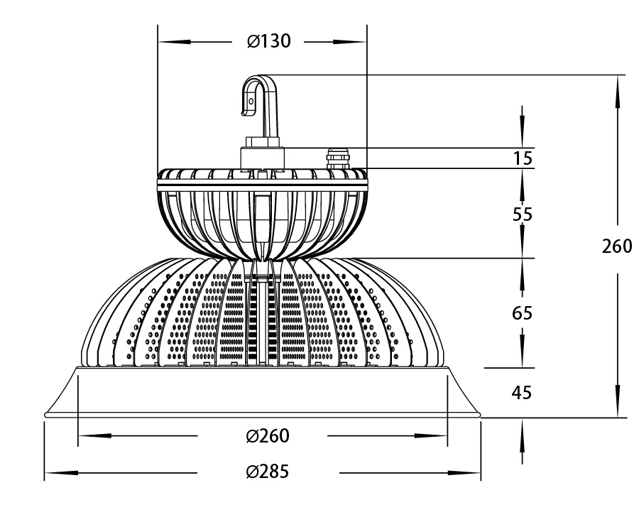 Assembly Drawing-LED High Bay Light