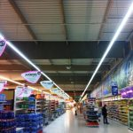 supermarket project LED lighting